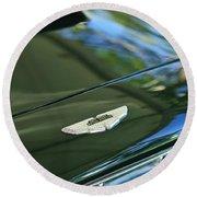 1967 Aston Martin Db6 Coupe Hood Emblem Round Beach Towel