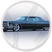 1967 Cadillac Custom Coupe Deville Round Beach Towel