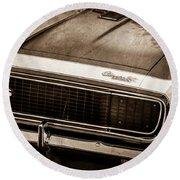 1967 Chevrolet Camaro Ss350 Convertible Grille Emblem -0704s Round Beach Towel