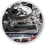 1967 Chevrolet Chevelle Ss Engine Round Beach Towel