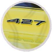 1967 Chevrolet Corvette Sport Coupe Emblem Round Beach Towel