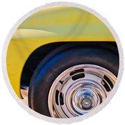 1967 Chevrolet Corvette Sport Coupe Rear Wheel Round Beach Towel