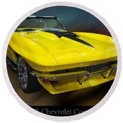 1967 Chevy Corvette Convertible Round Beach Towel