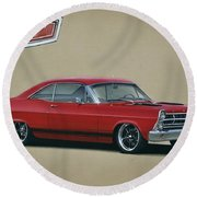 1967 Ford Fairlane Gt Round Beach Towel