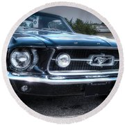 1967 Ford Mustang Round Beach Towel