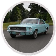 1967 Ford Mustang Watts Round Beach Towel