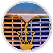 1967 Maserati Sebring Coupe Emblem Round Beach Towel