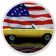 1967 Plymouth Belvedere Tribute Round Beach Towel