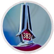 1967 Plymouth Saturn Hood Ornament Round Beach Towel
