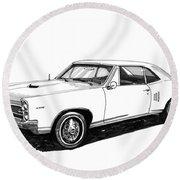 1967 Pontiac Gto Round Beach Towel
