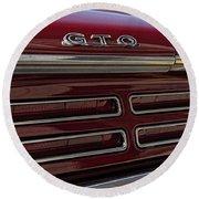 1967 Pontiac Gto Logo Round Beach Towel