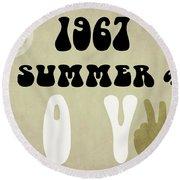 1967 Summer Of Love Newspaper Round Beach Towel