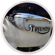1967 Triumph Gas Tank 2 Round Beach Towel
