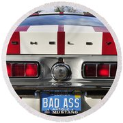 1968 Bad Ass Shelby Mustang Round Beach Towel by David Lee Thompson