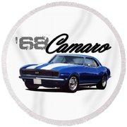1968 Camaro Round Beach Towel