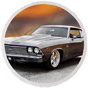 1968 Chevrolet Chevelle Ss L Round Beach Towel