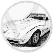 1968 Corvette Round Beach Towel