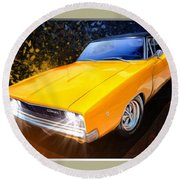1968 Dodge Charger Coupe Round Beach Towel