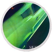 1968 Ford Mustang Round Beach Towel