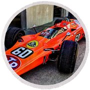 1968 Lotus 56 Turbine Indy Car #60 Angle Round Beach Towel