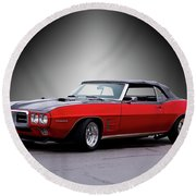 1968 Pontiac Firebird 400 Convertible Round Beach Towel