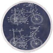 1968 Schwinn Stingray Patent In Blueprint Round Beach Towel