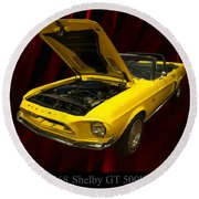 1968 Shelby Gt 500kr Round Beach Towel