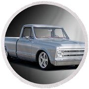 1969 Chevrolet C10 Pickup 'studio' 2 Round Beach Towel