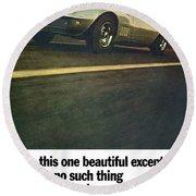 1969 Chevrolet Corvette Round Beach Towel