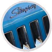 1969 Chevrolet Corvette Stingray Emblem Round Beach Towel