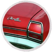 1969 Chevy Chevelle Ss 396 Round Beach Towel