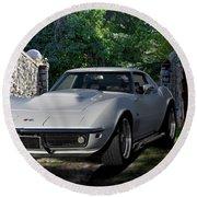 1969 Corvette Lt1 Coupe I Round Beach Towel
