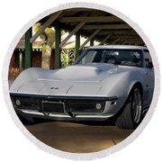 1969 Corvette Lt1 Coupe II Round Beach Towel