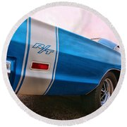 1969 Dodge Coronet Rt Round Beach Towel