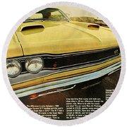 1969 Dodge Coronet Super Bee Round Beach Towel