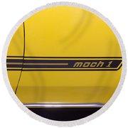 1969 Ford Mustang Mach 1 Logo Round Beach Towel