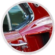 1969 Ford Mustang Mach 1 Side Scoop Round Beach Towel