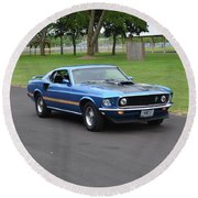 1969 Mach I Garland Round Beach Towel