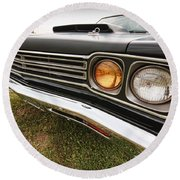 1969 Plymouth Road Runner 440-6 Round Beach Towel