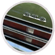 1969 Pontiac Gto Taillight Emblem Round Beach Towel