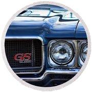 1970 Buick Gs 455 Round Beach Towel by Gordon Dean II