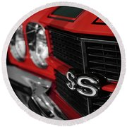 1970 Chevelle Ss396 Ss 396 Red Round Beach Towel