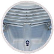 1970 Cord Royale Grille Hood Ornament Round Beach Towel