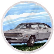 1970 Dodge Challenger Round Beach Towel
