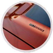 1970 Dodge Challenger Rt 383 Magnum Hood Round Beach Towel