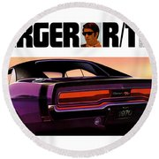 1970 Dodge Charger Rt Round Beach Towel