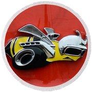 1970 Dodge Super Bee Emblem Round Beach Towel