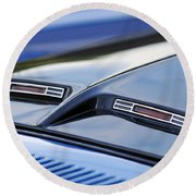 1970 Ford Mustang Gt Mach 1 Hood Round Beach Towel