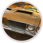 1970 Oldsmobile 442 W-30 Round Beach Towel