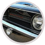 1970 Plymouth Barracuda 'cuda 440 Round Beach Towel